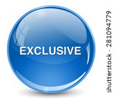 exclusive button | Shutterstock .eps vector #281094779