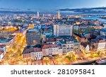 antwerp  belgium. aerial city... | Shutterstock . vector #281095841