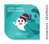 ghost flat icon with long... | Shutterstock .eps vector #281096321