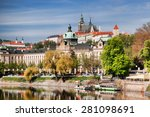 Prague Castle With Vltava Rive...