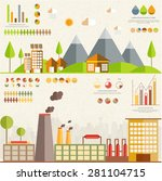 ecology infographics elements... | Shutterstock .eps vector #281104715
