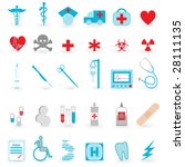 medical icon set | Shutterstock . vector #28111135