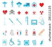 medical icon set | Shutterstock . vector #28111135