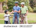 happy multi generation family... | Shutterstock . vector #281112227