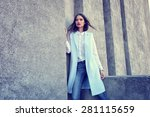 high fashion portrait of young... | Shutterstock . vector #281115659
