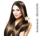 beauty model girl with healthy...   Shutterstock . vector #281116154