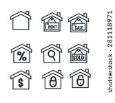 real estate icons | Shutterstock .eps vector #281118971