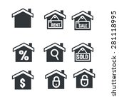 real estate icons | Shutterstock .eps vector #281118995