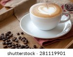 Coffee Cup Of Cafe\' Latte With...