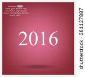 happy new year 2016   vector... | Shutterstock .eps vector #281127887