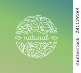 vector natural label in trendy... | Shutterstock .eps vector #281129264