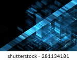 abstract science or technology... | Shutterstock . vector #281134181