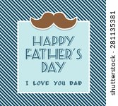 happy fathers day card | Shutterstock .eps vector #281135381