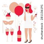 party vector set illustration | Shutterstock .eps vector #281136191