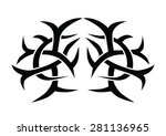 tattoo tribal lower back vector.... | Shutterstock .eps vector #281136965