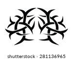 tattoo design for girls lower... | Shutterstock .eps vector #281136965