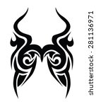 tribal tattoo vector design... | Shutterstock .eps vector #281136971
