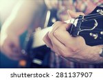 guitarist on stage in the... | Shutterstock . vector #281137907