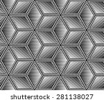 abstract black and white... | Shutterstock .eps vector #281138027