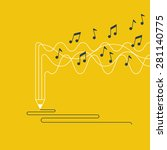 music recording concept.... | Shutterstock .eps vector #281140775