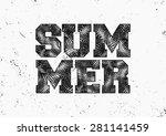 retro style typographic design... | Shutterstock .eps vector #281141459
