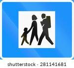 finnish road sign no. 742.... | Shutterstock . vector #281141681
