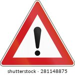 a czech warning sign for... | Shutterstock . vector #281148875