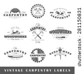 set of vintage labels carpentry....