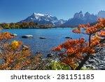 torres del paine national park  ... | Shutterstock . vector #281151185