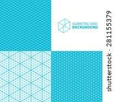 isometric grid vector... | Shutterstock .eps vector #281155379