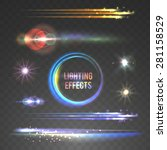 lens flare and lighting effects ... | Shutterstock .eps vector #281158529