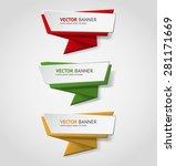 vector infographic origami...   Shutterstock .eps vector #281171669