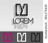 elegant minimal letter symbol....