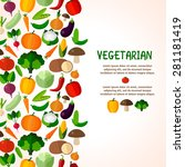 vegetables background. colorful ... | Shutterstock .eps vector #281181419