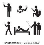 man people using smartphone...   Shutterstock .eps vector #281184269