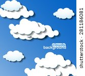 clouds background. vector... | Shutterstock .eps vector #281186081
