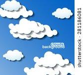 clouds background. vector... | Shutterstock .eps vector #281186081