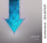 abstract 3d vector technology... | Shutterstock .eps vector #281187029