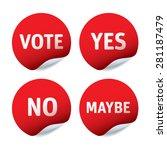 set of red vector stickers  ... | Shutterstock .eps vector #281187479