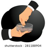 hand of businessman is holding... | Shutterstock .eps vector #281188904