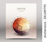 abstract 3d vector technology... | Shutterstock .eps vector #281189795