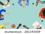 meeting create brainstorm ideas ... | Shutterstock . vector #281193509