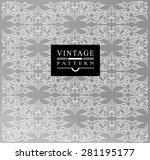 decorative  calligraphic ... | Shutterstock .eps vector #281195177