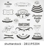 set of calligraphic elements... | Shutterstock .eps vector #281195204