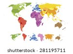 detailed world map | Shutterstock .eps vector #281195711