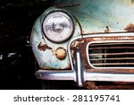 detail of the front headlight... | Shutterstock . vector #281195741