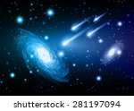 stars of a planet and galaxy in ...   Shutterstock .eps vector #281197094