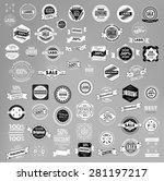 set of retro vintage labels ... | Shutterstock .eps vector #281197217
