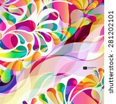 abstract colorful arc drop... | Shutterstock .eps vector #281202101