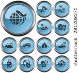 vacations button set | Shutterstock .eps vector #281208275